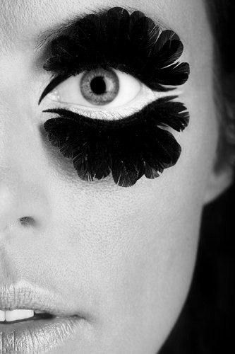 Ok, this, I admit, is more of a transformation but wow, you gotta admire the eyeliner tricks and precision.