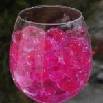Pink marmor vandperler, 10G, 15,-