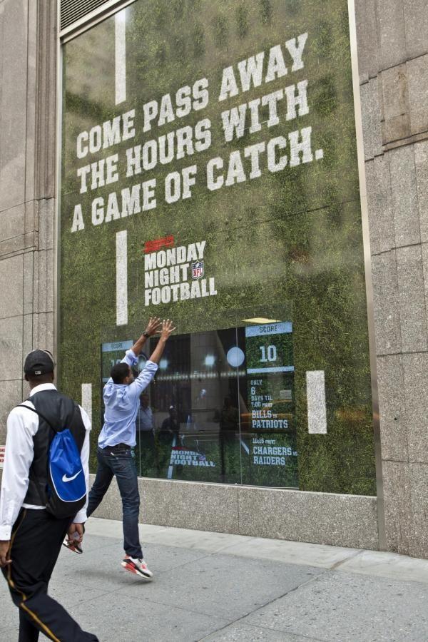 "ESPN on ABC: ""INTERACTIVE STOREFRONTS"" Outdoor Advert  by Wieden + Kennedy New York, Brand New School"
