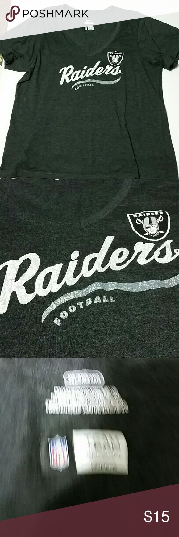Raiders women's t shirt Size 3XL in gray Tops Tees - Short Sleeve