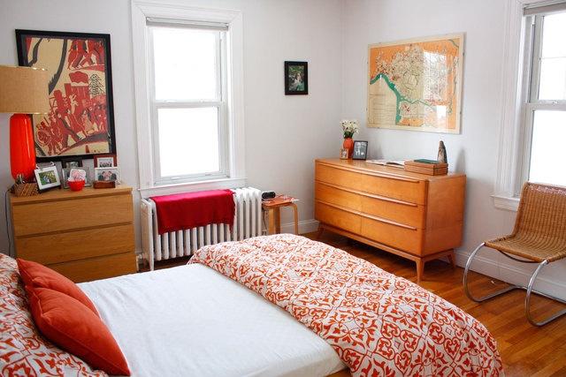 Orange apartment therapy bedroom rooms pinterest for Bedroom inspiration apartment therapy