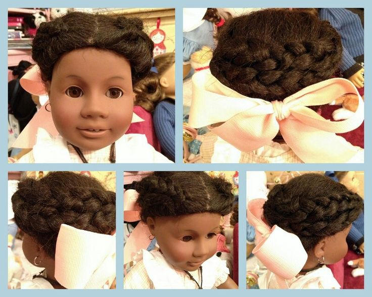 Addy American Girl Doll hair style.