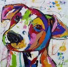 Vrolijke schilderijen van honden - Cheerful paintings of dogs