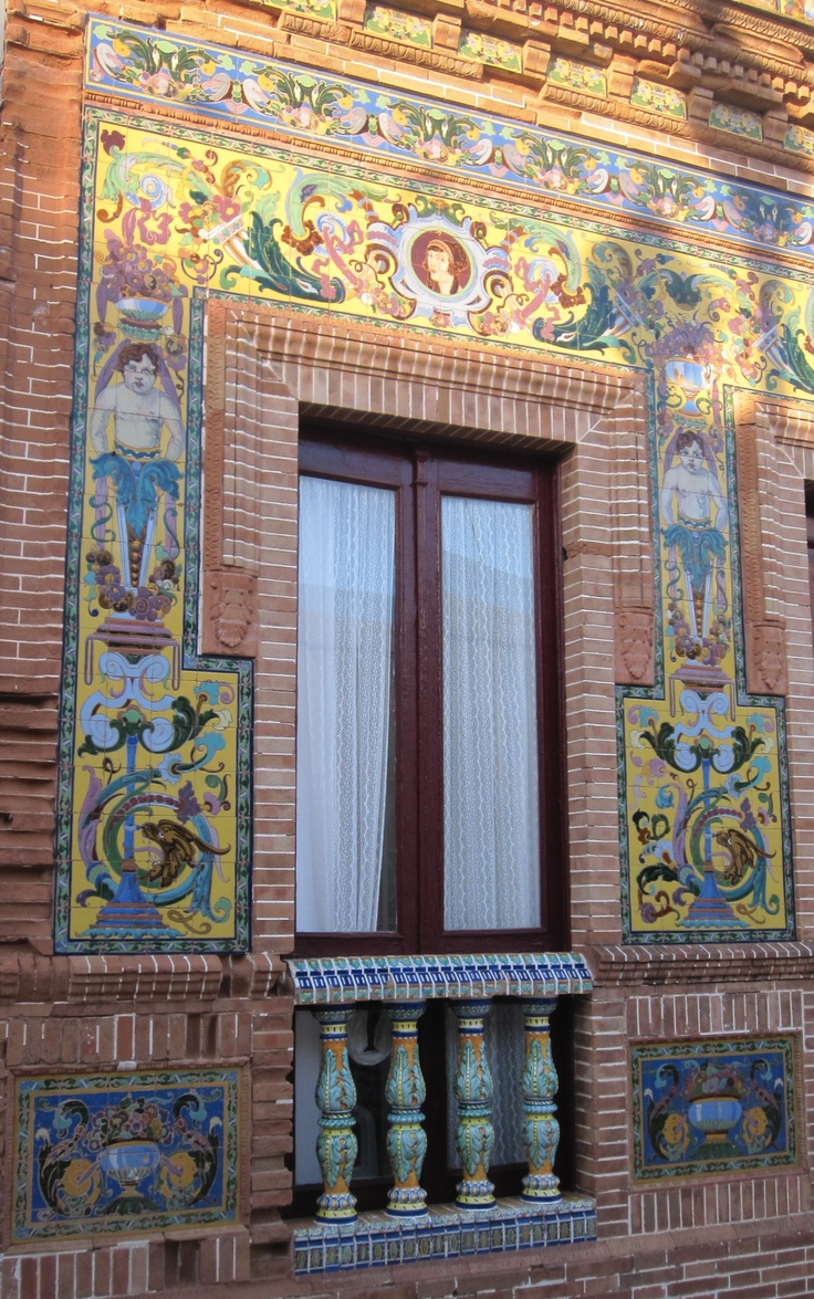 Portuguese azulejos - widely used in builing arquitecture