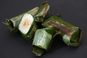 """Lemper""  Tasty Indonesian snack of Chicken wrapped in sticky rice. #IndonesianFood"