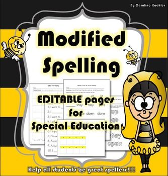 18 Editable Spelling templates for modified weekly tests, practice in language arts centers, or homework that are perfect for Special Education inclusion and resource room teachers. The English language is tricky and many of the rules we teach children are a general guideline for spelling, not a solid rule they can follow.