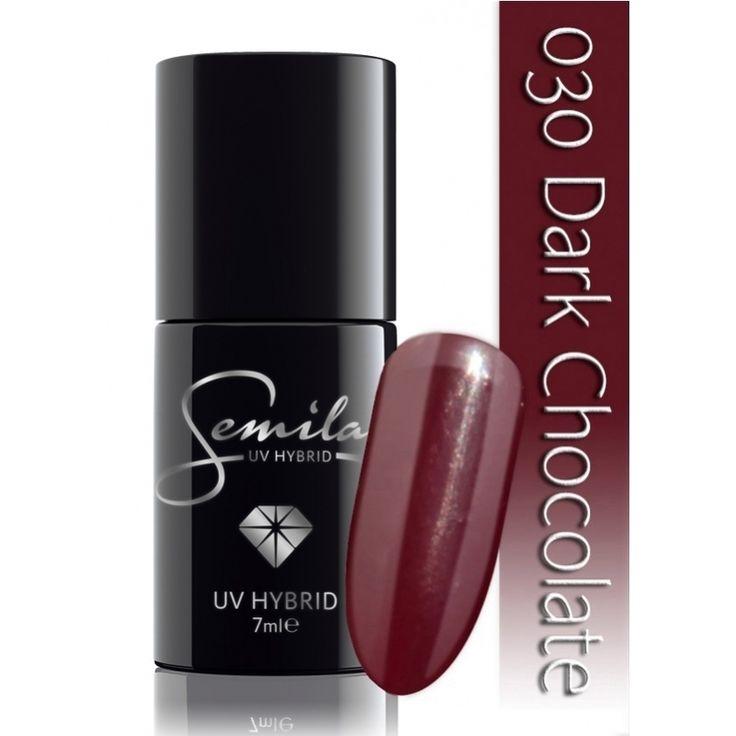 Ημιμόνιμο μανό Semilac - 030 Dark Chocolate 7ml - Semilac | Προϊόντα Μανικιούρ - Πεντικιούρ Semilac & Ημιμόνιμα.