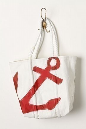 Anchors away! Sea Bags recycled sail handbag. Buy Now: http://seabags.com/red-anchor-tote.html