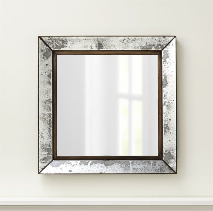 Dubois Large Square Wall Mirror   Crate and Barrel