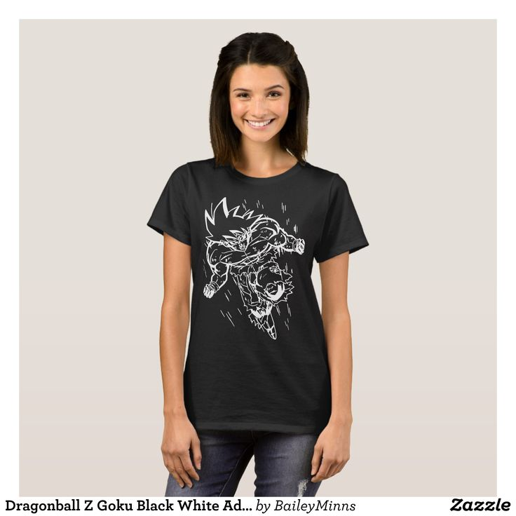 Dragonball Z Goku Black White Adult Men Black goku T-Shirt - Fashionable Women's Shirts By Creative Talented Graphic Designers - #shirts #tshirts #fashion #apparel #clothes #clothing #design #designer #fashiondesigner #style #trends #bargain #sale #shopping - Comfy casual and loose fitting long-sleeve heavyweight shirt is stylish and warm addition to anyone's wardrobe - This design is made from 6.0 oz pre-shrunk 100% cotton it wears well on anyone - The garment is double-needle stitched at…