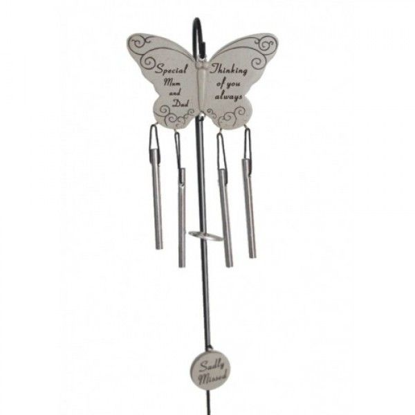 Someone Special Sadly Missed Guardian Angel Wings Graveside Memorial Wind Chime