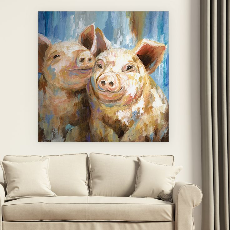 Wexford Home 'Mud Buddies' Premium Gallery-wrapped Canvas in 4 Sizes