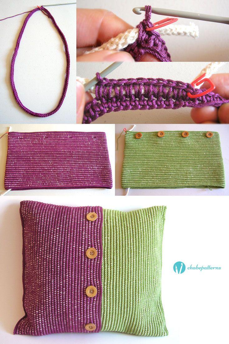 Cushion cases, free pattern, photo tutorial, written instructions/ Fundas para cojines, patrón gratis, foto tutorial, instrucciones escritas