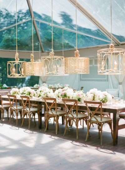 Gorgeous wedding table: http://www.stylemepretty.com/2014/09/22/emily-maynards-surprise-wedding-to-tyler-johnson/   Photography: Corbin Gurkin - http://corbingurkin.com/