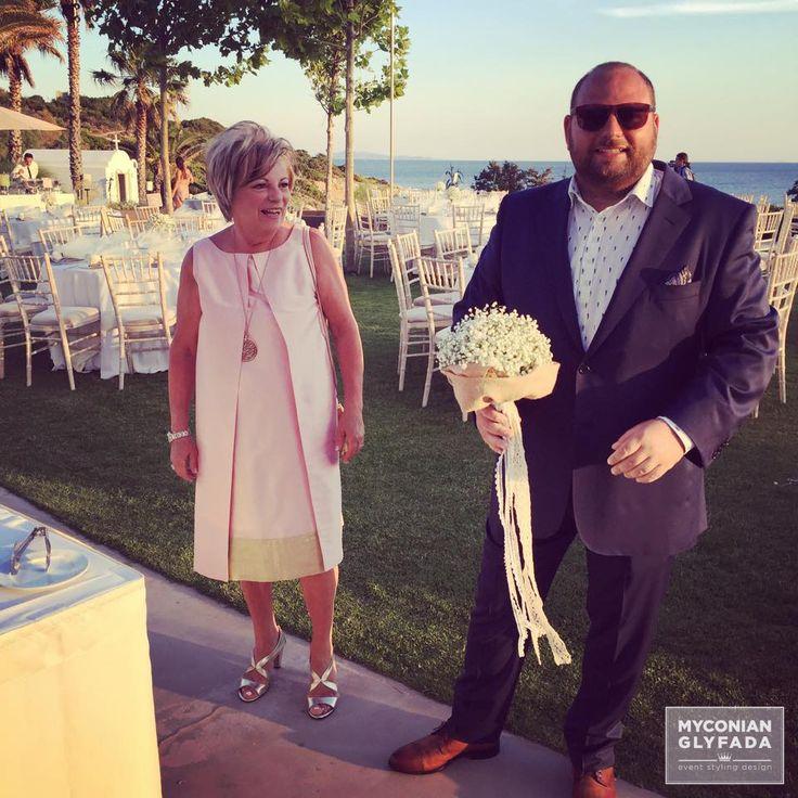 | Beautiful Sunset Wedding | Βασίλης & Κωνσταντίνα | #greekwedding #sunsetwedding #bridalbouquet #weddingflower #myconianglyfadawedding