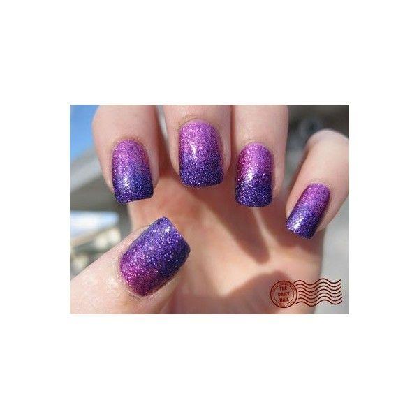 <3: Nails Art, Nails Design, Purple Sparkle, Purple Glitter, Sparkle Nails, Purple Nails, Glitter Nails, Gradient Nails, Sparkly Nails