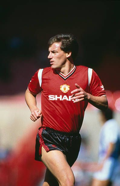 English footballer Steve Coppell playing his testimonial ...