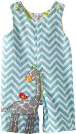 Mud Pie Unisex-Baby Newborn Safari Giraffe Shortall Set, Multi, 12-18 Months Mud Pie. $23.52