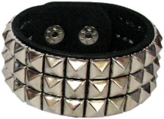 Punk Goth Studded Wristband