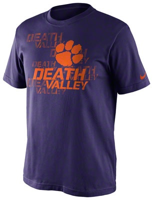 Clemson Tigers Purple Nike Dri-FIT 2012 Official Football Practice T-Shirt