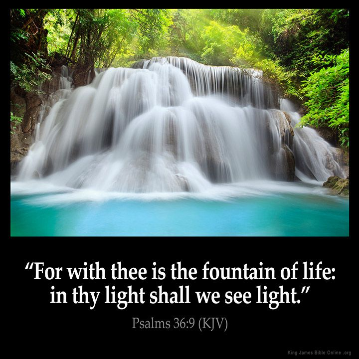 Psalms 36:9 Inspirational Image