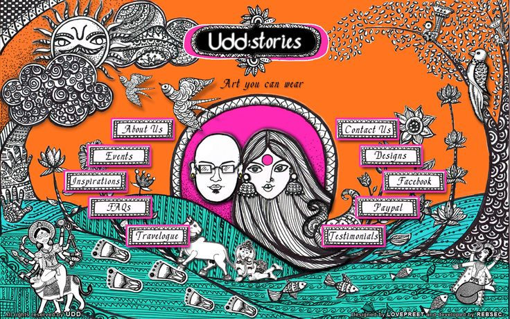 Udd is a brand for people passionate about life itself.. Its the love for ART, design, color, textile and bold Indianess! Udd is based on the idea that original ART WORKS are created and then converted into happy-prints, which you would want to flaunt! Udd believes in promoting FOLK ART as the bigger picture. It believes in providing ample opportunities to budding artists and creative individuals.