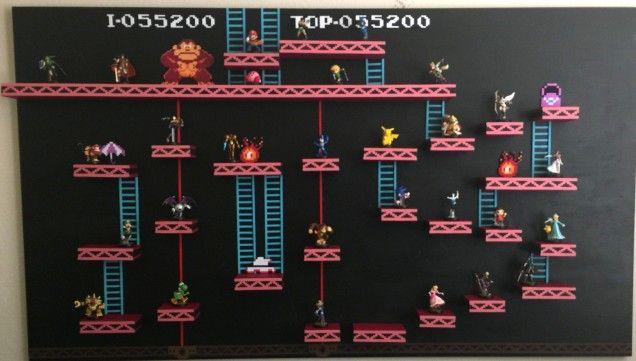 Donkey Kong Level Custom Made Amiibo Figure Shelf Amiibo