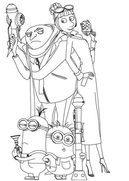 Dibujo de Gru (mi villano favorito) para imprimir y colorear (5 de