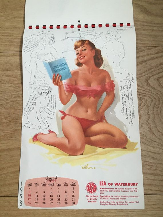 1958 Ted Withers Artist's Sketch Pad Full Pinup by 58petticoats