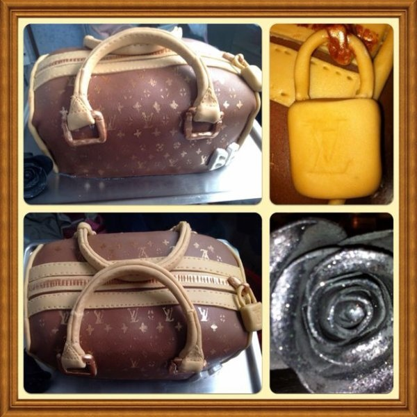 Gâteau en forme de sac à main Louis Vuitton