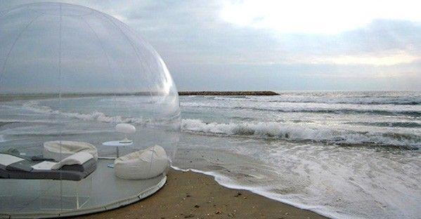 Ésta burbuja te permitirá dormir bajo las estrellas