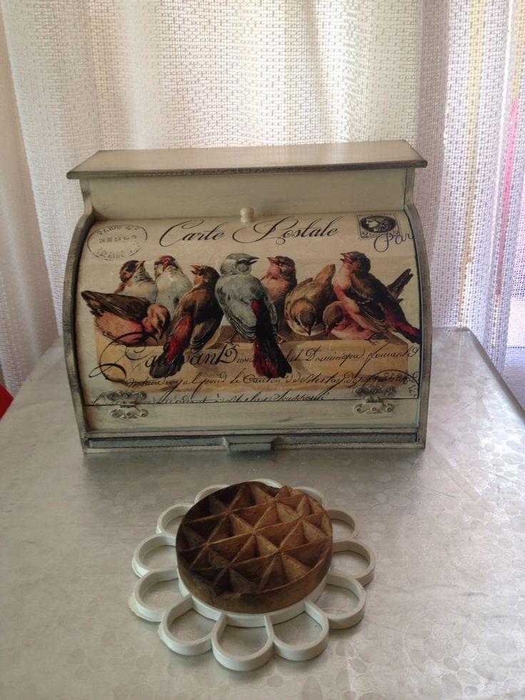 Wood painting Bread box Ahşap boyama ekmek kutusu