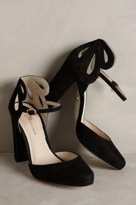 Guilhermina Posy Cutwork Heels Black