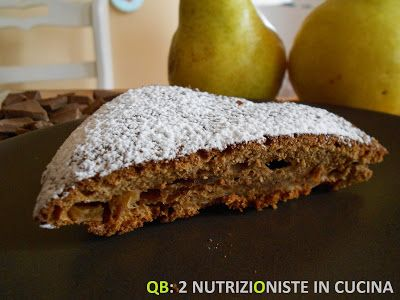 Q B Le ricette light: Torta pere e cioccolato light