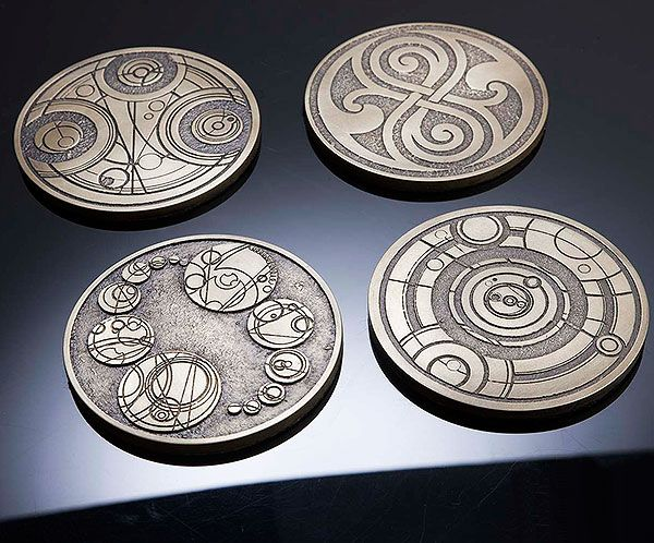 Doctor Who: Gallifreyan Coasters.... I don't use coasters but I would use these