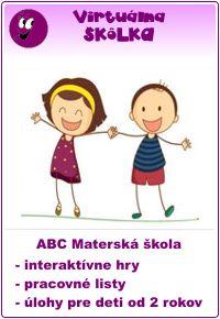 virtuálna skôlka z abc materská škola - interaktívne hry, pracovné listy a úlohy pre deti od 2 rokov