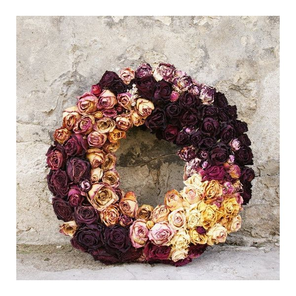 Dried roses wreath, Dried roses, Dried flowers, Autumn decoration,... ($188) ❤ liked on Polyvore featuring home, home decor, red home decor, rose wreath, red home accessories, autumn wreath and fall home decor