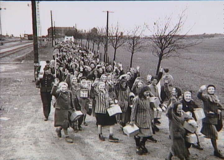Polish women released from Ravensbrück concentration camp, May 1945