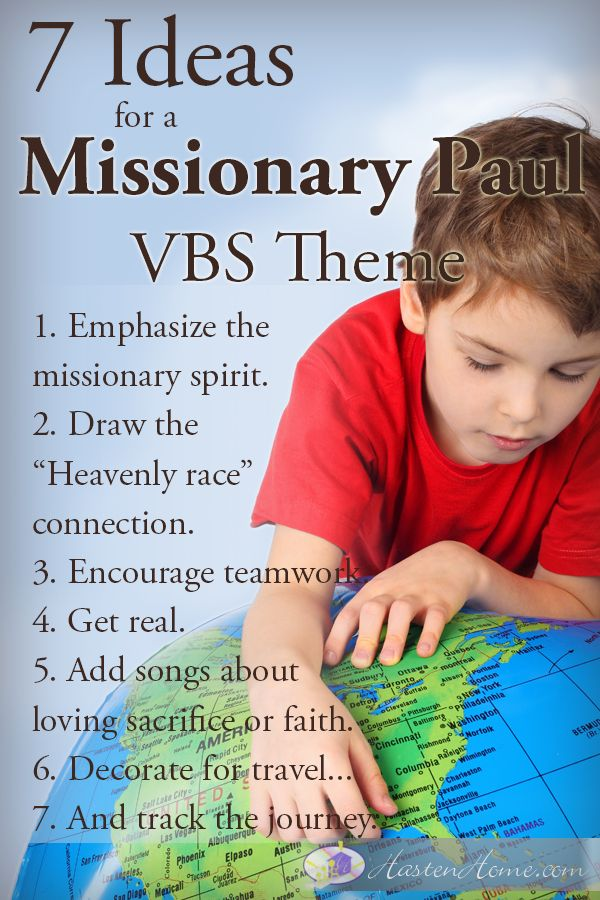 7 Ideas for a Missionary Paul VBS theme (list of tips)
