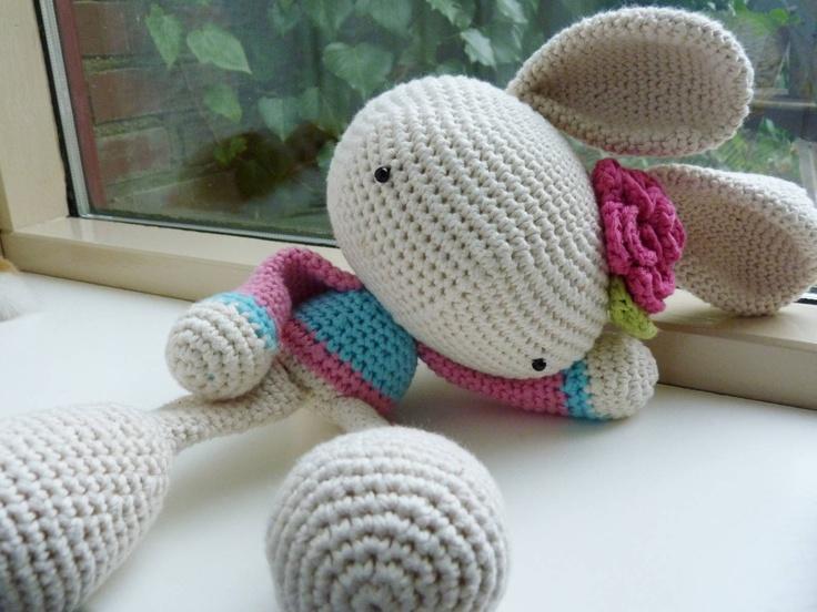 Ilonas blog: Crochet bunny, konijn haken