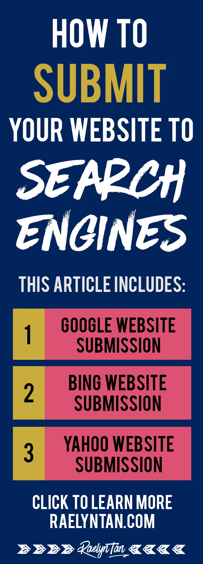 Want to submit your website to search engines? Here are simple, step-by-step instructions to submit your website to Google, Bing and Yahoo! Get your blog indexed real quick.