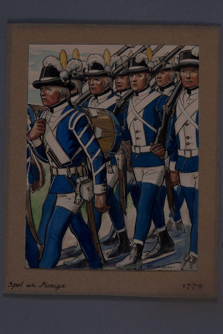 Privates and drummers 1779 by Einar von Strokirch