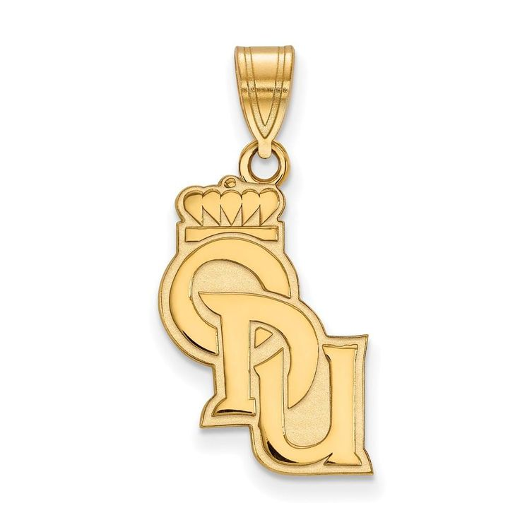Sterling Silver w/GP LogoArt Old Dominion University Large Pendant