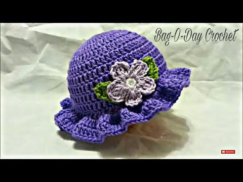 CROCHET How to #Crochet Easy Ladies Spring time Hat #TUTORIAL #199 LEARN CROCHET - YouTube