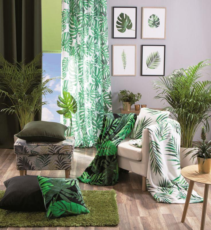 Modne w tym sezonie tkaniny z motywem zieleni. Która pasuje do Twojego wnętrza? #inspiration  #plants #green #modern #newcollection  #2017trends  #trendy  #salonlife  #salondesign  #interiordesign