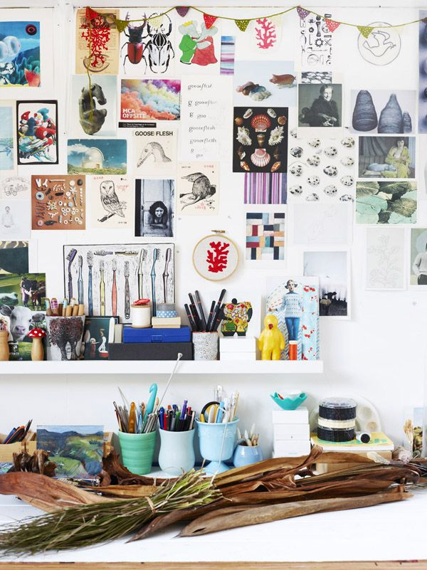 The Murwillumbah studio of textile artist Helle Jorgensen.  Photo – Toby Scott, production – Lucy Feagins / The Design Files.
