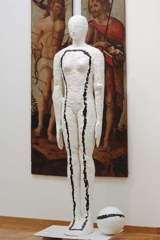 Mimmo Paladino Senza titolo, 2005 alluminio dipinto cm 199x77x48