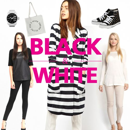 Editor's picks for her: Black & White  Όσο κλασικός είναι ο συνδυασμός άσπρου και μαύρου άλλο τόσο μοντέρνος μπορεί να γίνει. http://www.trendsetters.gr/editors-picks/picks-for-her/73-black-white