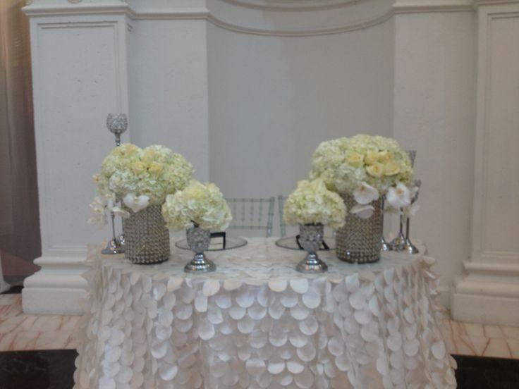 Bride U0026 Groom Table White Wedding