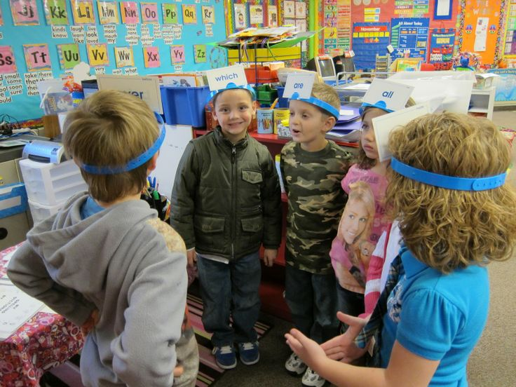 Students spell out the word on each others heads and they have to guess the word! Too cute!